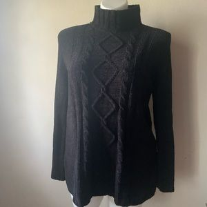 Karen Scott Black Sweater Size Large